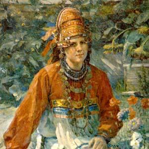 Портрет учительницы-мордовки