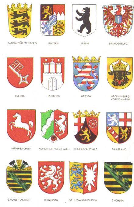 гербы земель германии