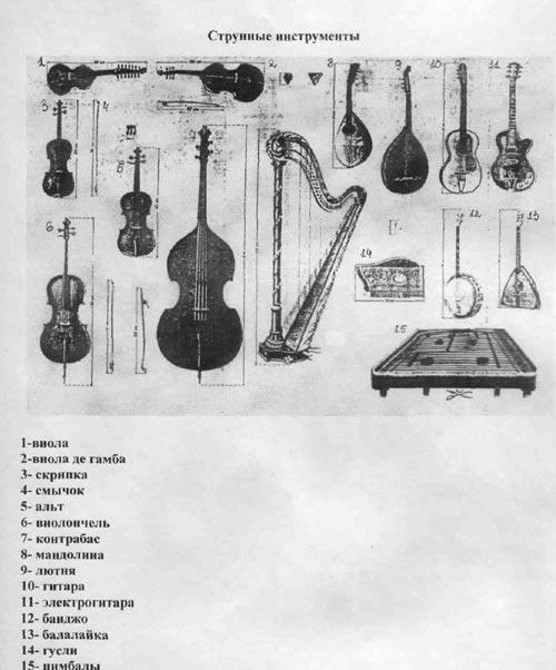 Cтрунно-смычковые инструменты