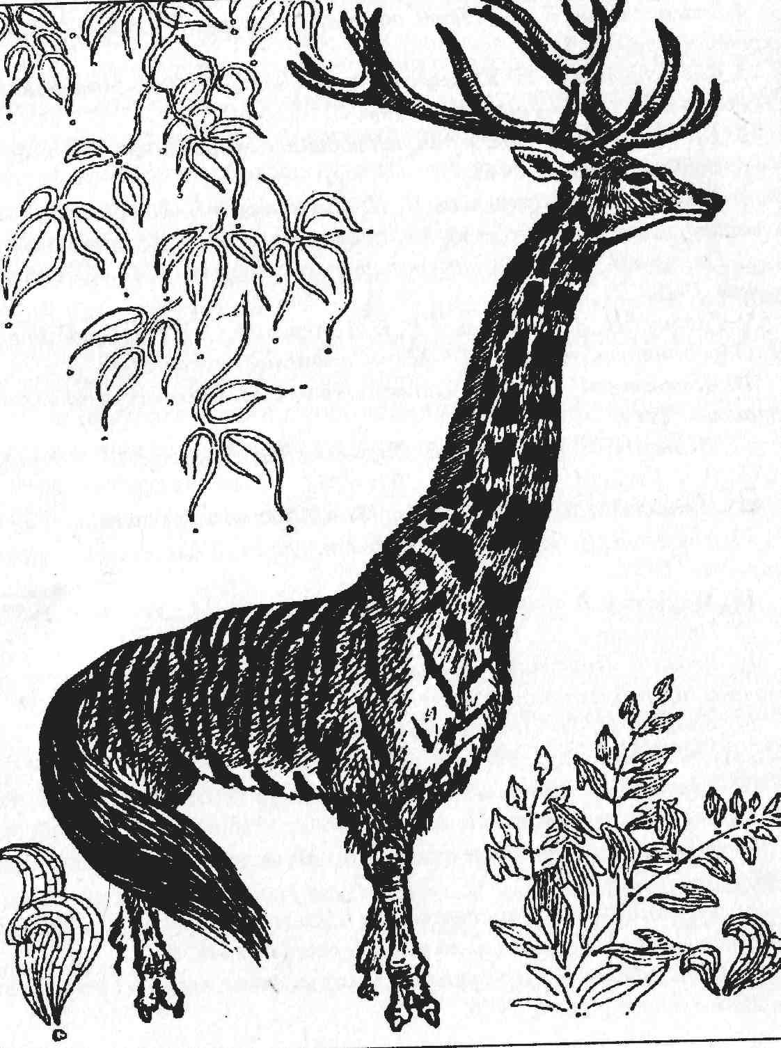 Животные рисунки символами 6