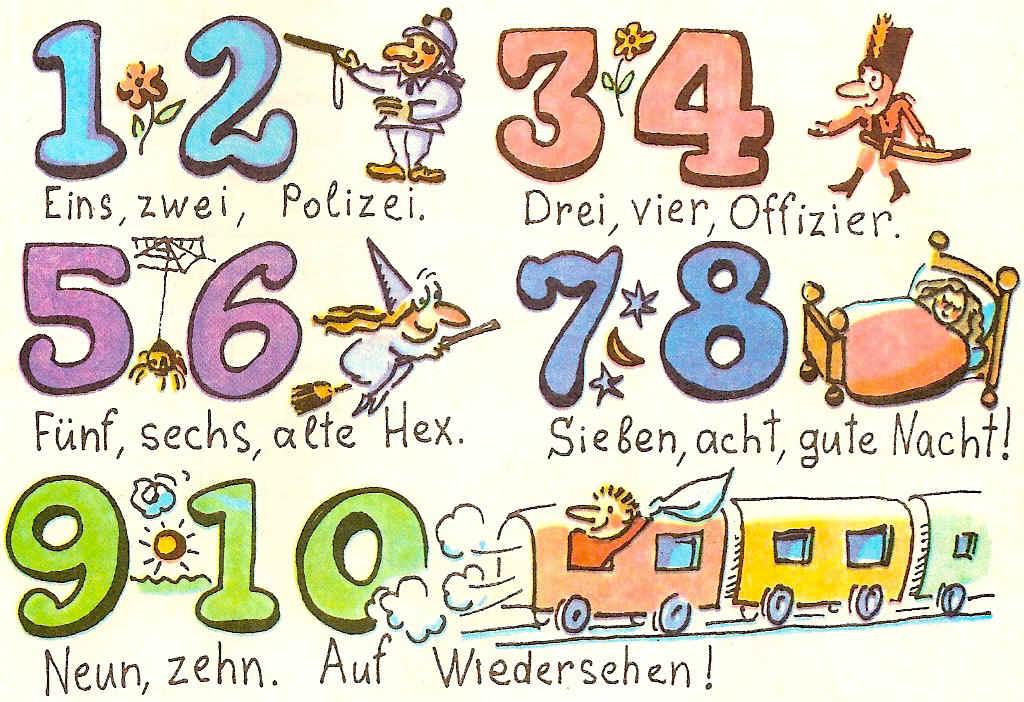 картинки с цифрами на немецкому парни