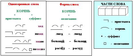 Примеры опорных схем лысенковой
