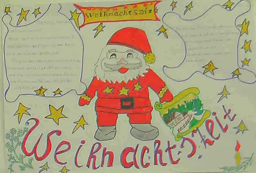 Открытка на новый год по немецкому языку 4 класс