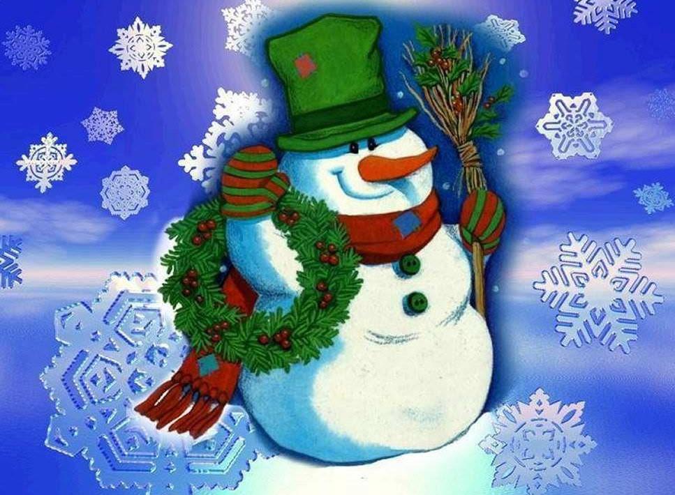 Открытка снеговики с новы, днем рождения