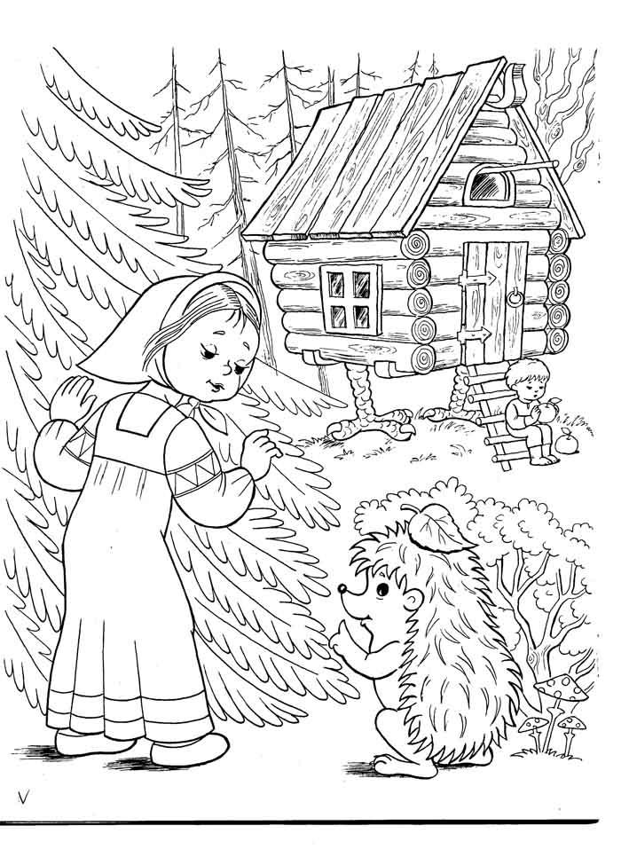 Открытка, русские сказки картинки карандашом