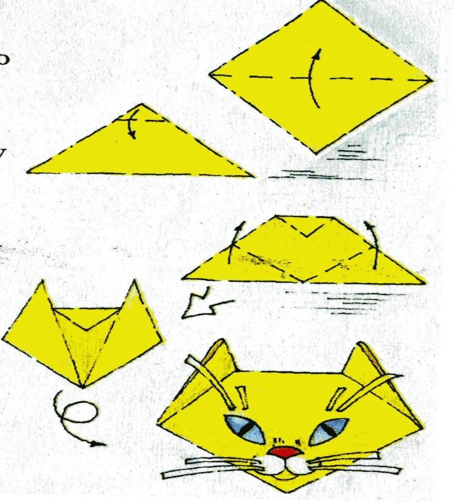 Схема оригами домашнего животного