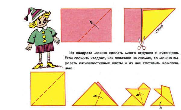 Как сделать из цветной бумаги вазочку
