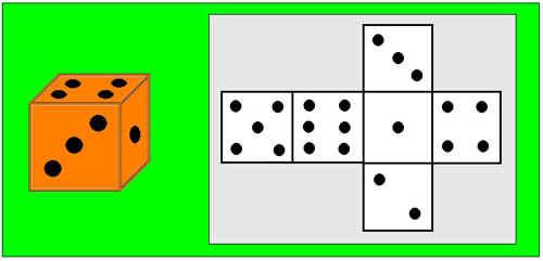 два игральных кубика.
