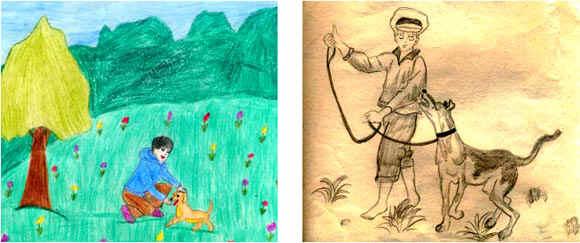 Рисунки к рассказу багульник