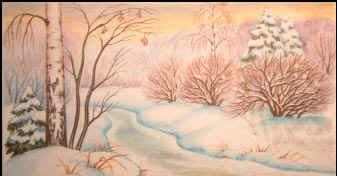 Как нарисовать зиму поэтапно а именно