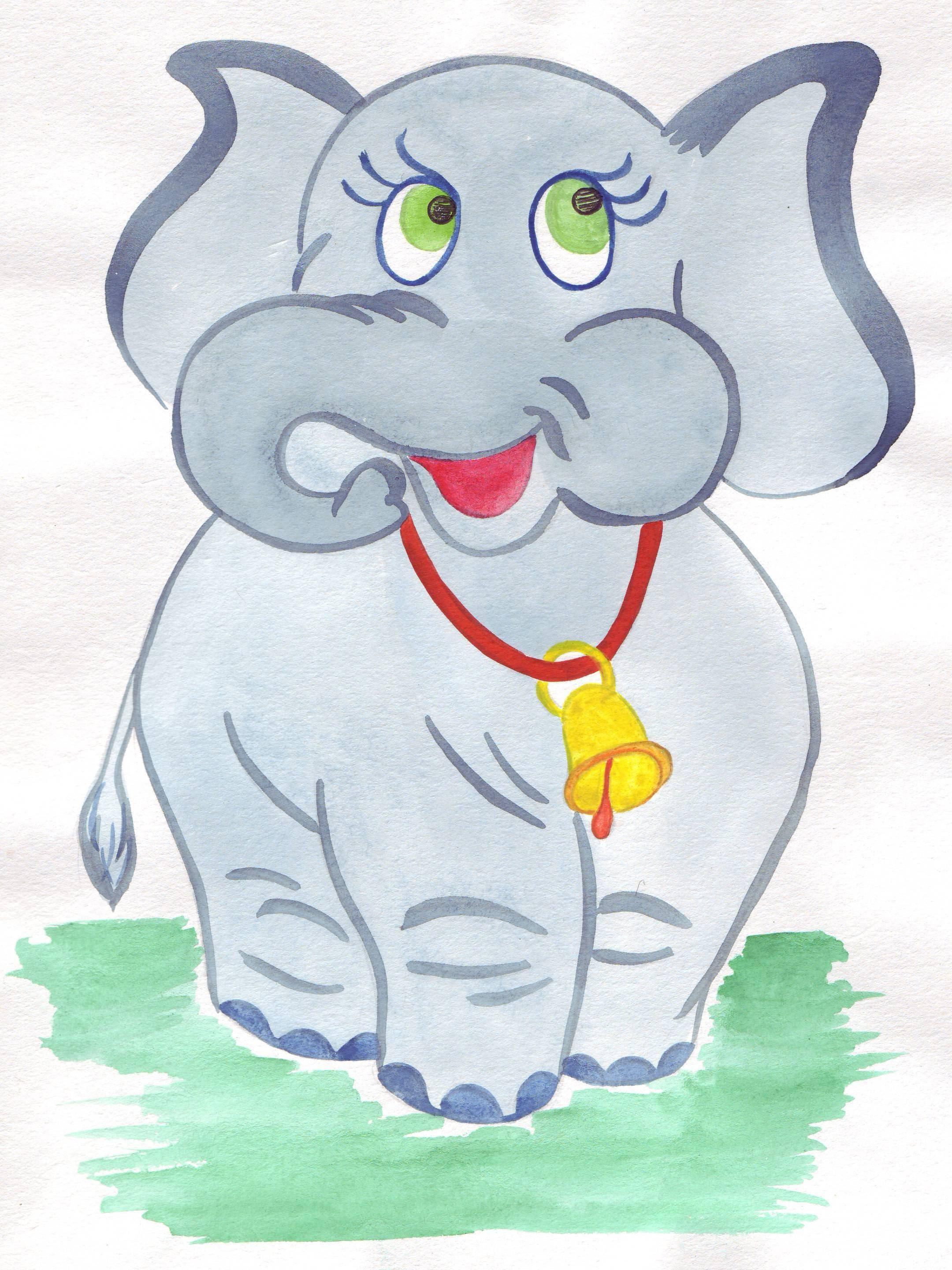 слон картинки рисунки