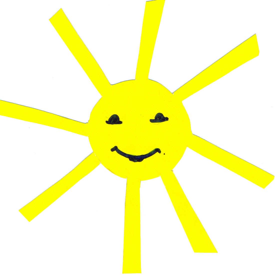 Фото солнце с лучами для детей