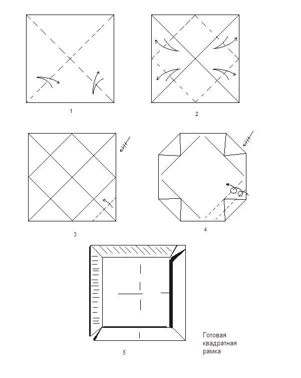 Схема рамка для модульное оригами