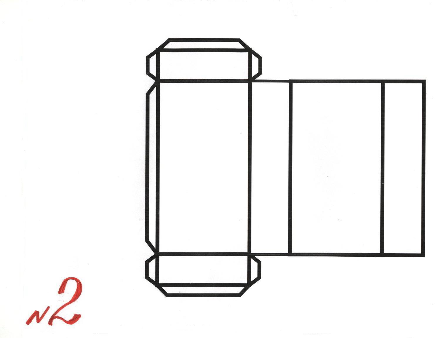 Как сделать куб параллелепипед из бумаги схема