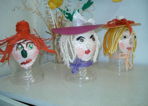 Куклы и поделки из пластиковых бутылок своими руками