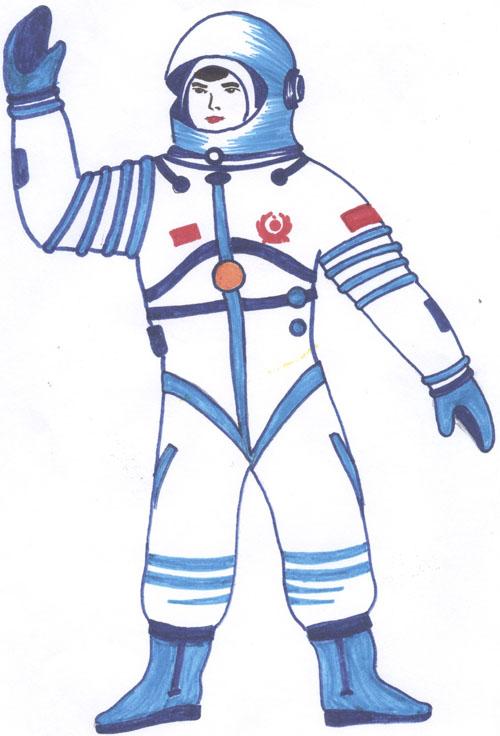 Костюмы космонавтов рисунки