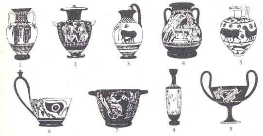 Древнегреческие вазы - описание и фотографии   281x542