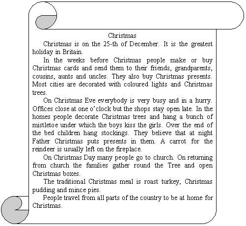 Текст для новогодней открытки на английском языке