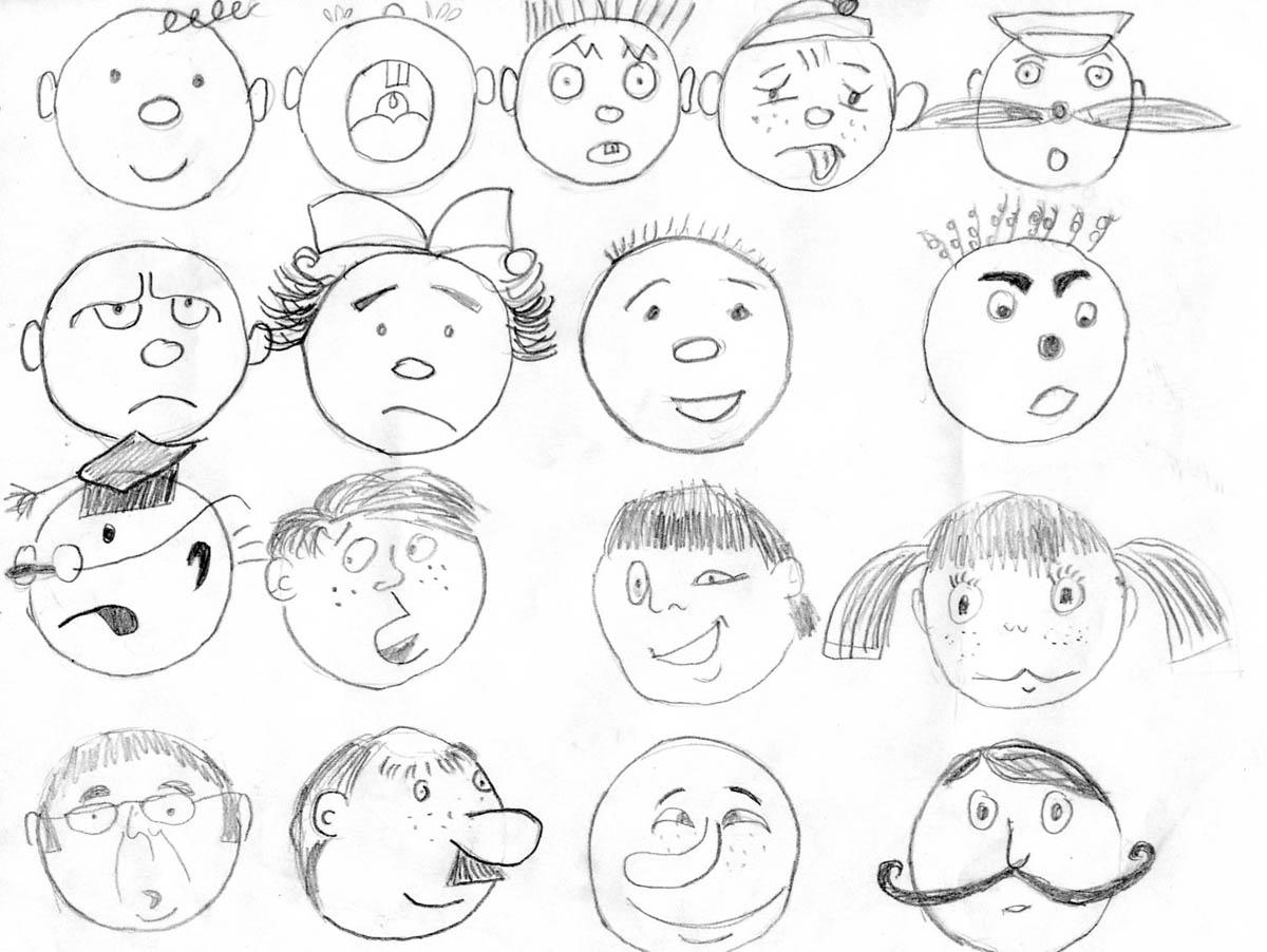 Рисунки детских смешных рожиц