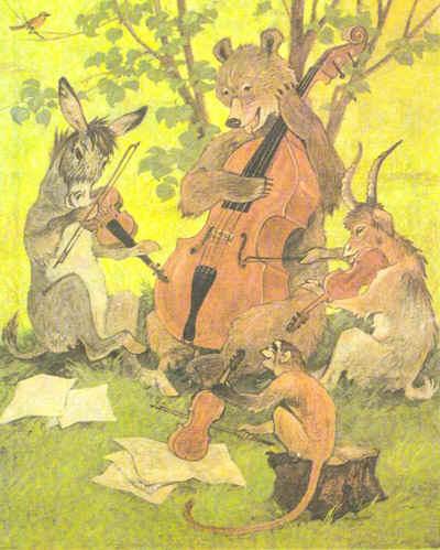 """""""Das Quartett"""" (Iwan Andrejewitsch Krylow), """"Квартет"""" - басня Ивана Крылова на немецком языке"""