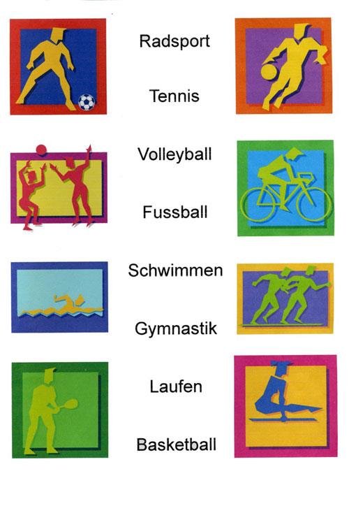виды спорта на немецком составляют только