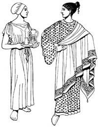 Источник.  Мужской костюм Древней Греции состоит из хитона.