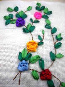 Творческие проекты по технологии вышивки из лент