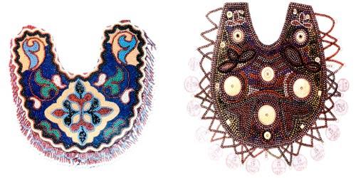 Шейным украшением у девушек также служили бусы, изготовленные из мелких кораллов, стеклянных шариков и бисера...