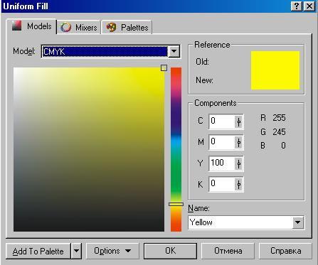 corel draw панель инструментов