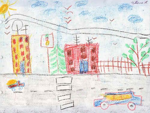 Рисунки детей нашего города