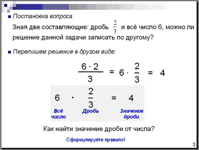 Задачи на дробь от числа с решением решение задач по расчету рыночной стоимость