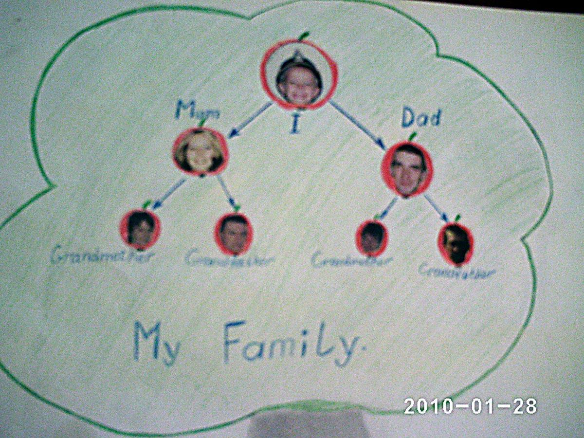 Как сделать по английскому языку семейное древо 4