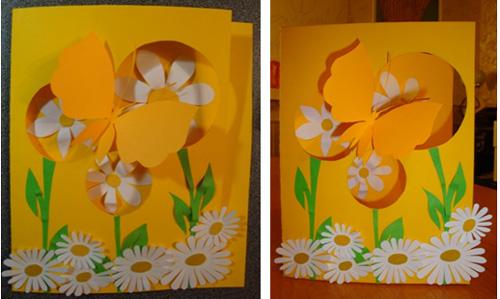 Изо декоративная открытка 2 класс