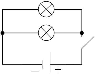 1. Начертите в тетради схему параллельного соединения...  Порядок выполнения работы.