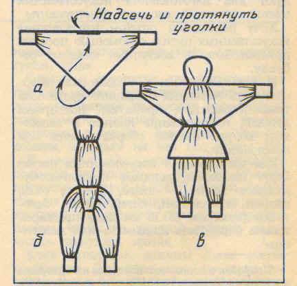 Народные куколки из ткани своими руками без шитья 35