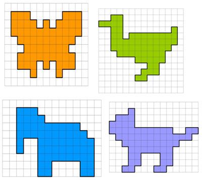 Рисуем животных по квадратикам