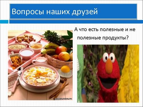 занятия разговор о правильном питании