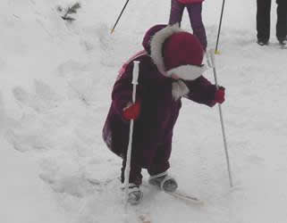 Обучение детей 5–7 лет ходьбе на лыжах