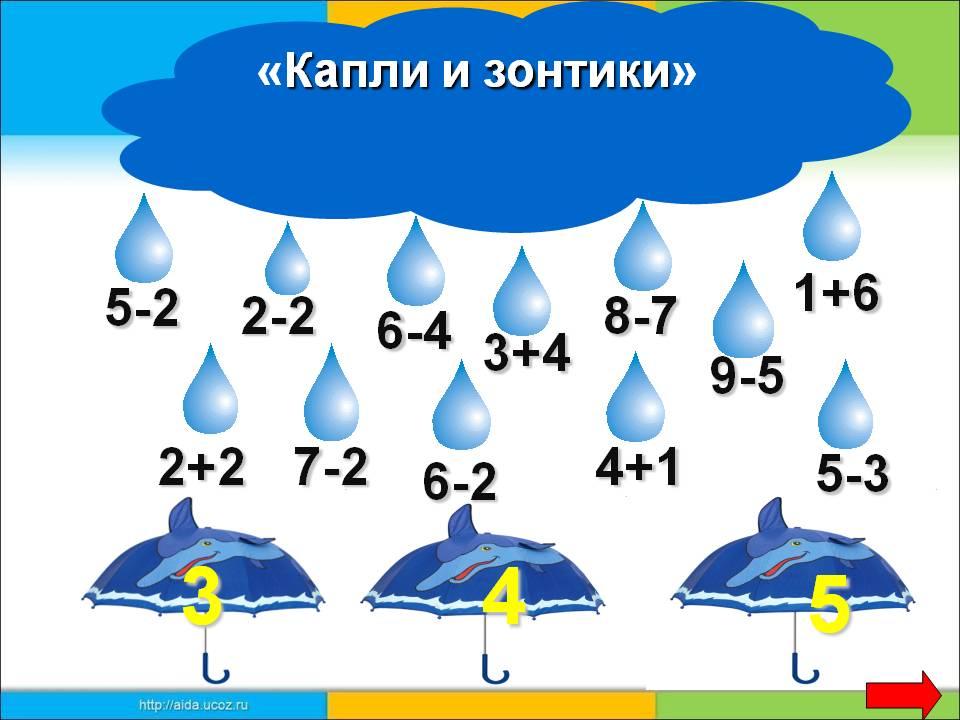 Математика 1 класс играть