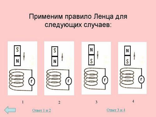 Решение задач с физики правило ленца решение задач по теоретической основы электроники
