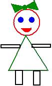 Картинка девочки из геометрических фигур