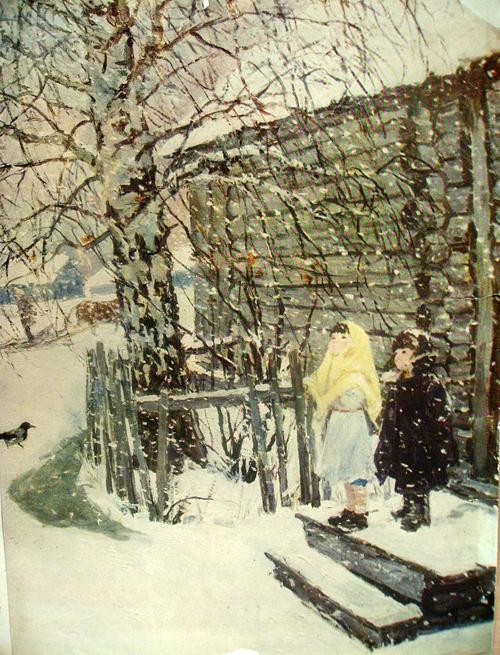 А пластов первый снег рисунок4