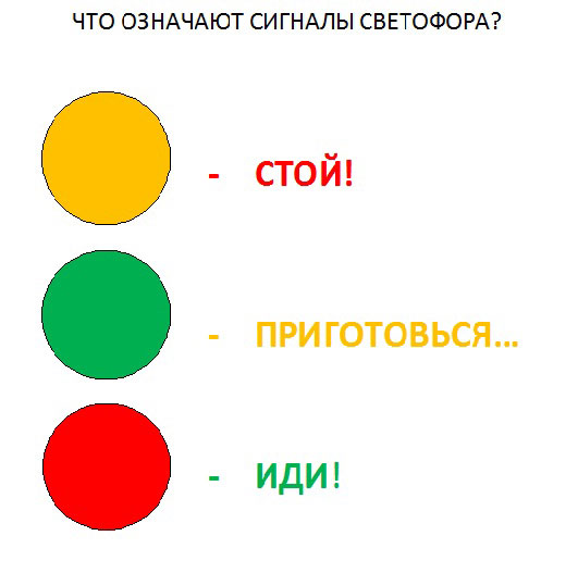 Картинки светофора распечатать - 944b