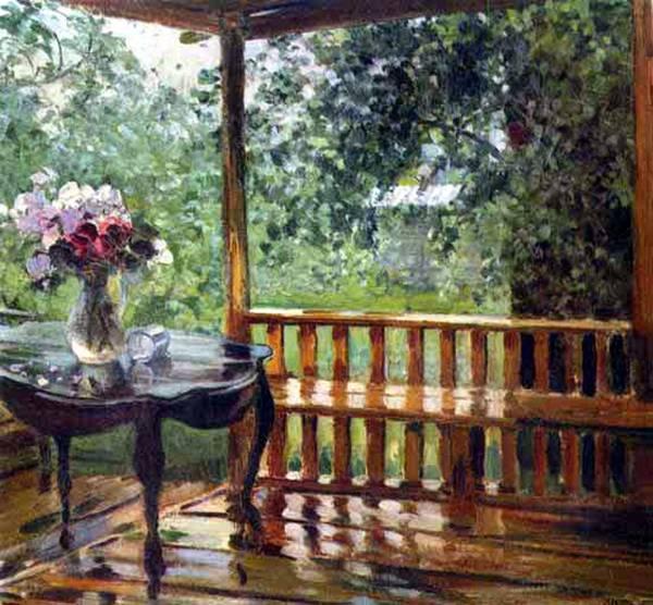 картина после дождя:
