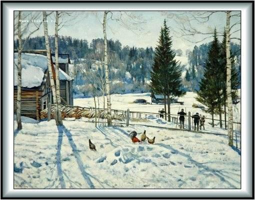 На картине мы видим деревянный сарай ...: festival.1september.ru/articles/613870