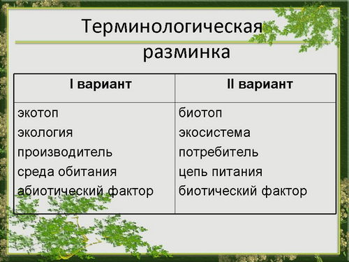 Организм и среда