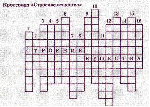 Красворд По Физики Броуновское Д 10