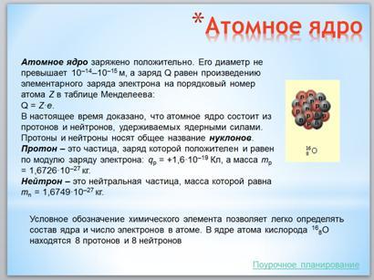Ядро атома кислорода