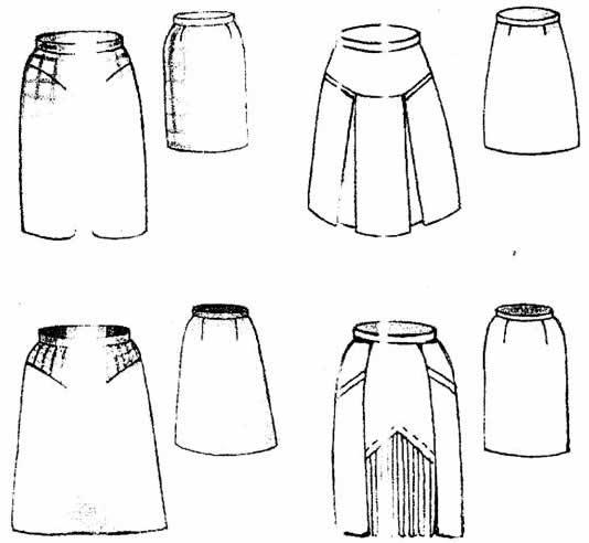 техническое описание модели юбки образец