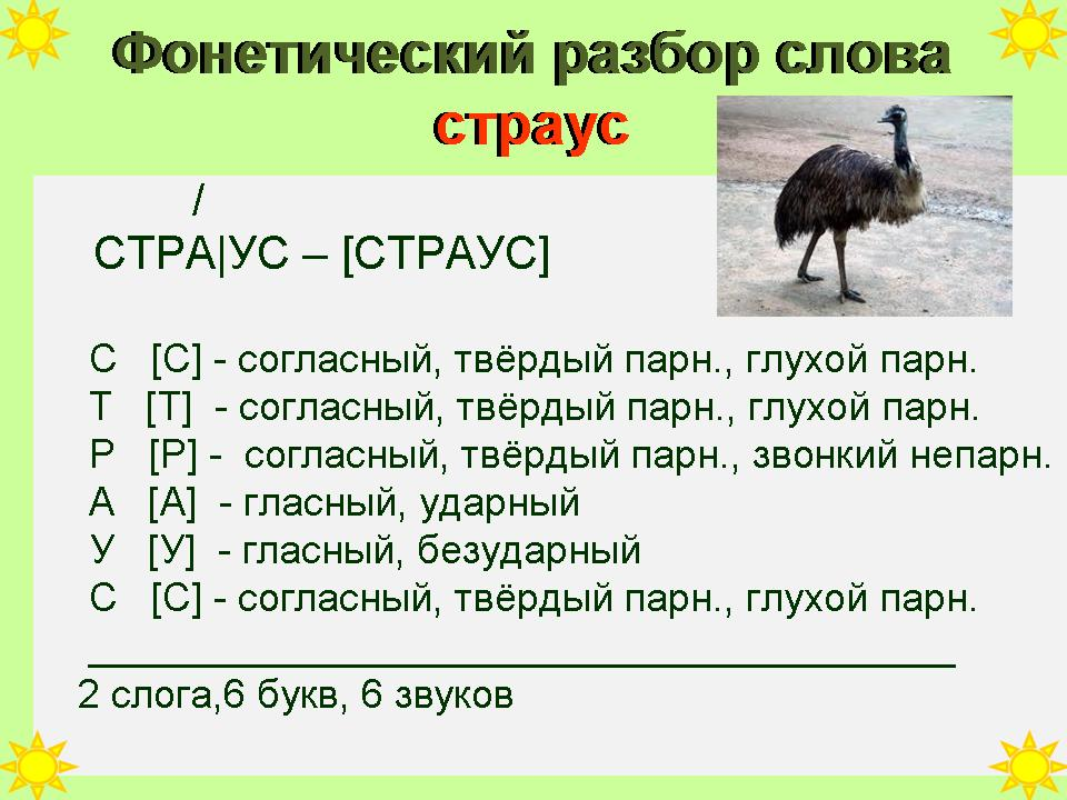 Ответы mail. Ru: морфологический (под цифрой 3) разбор слова.